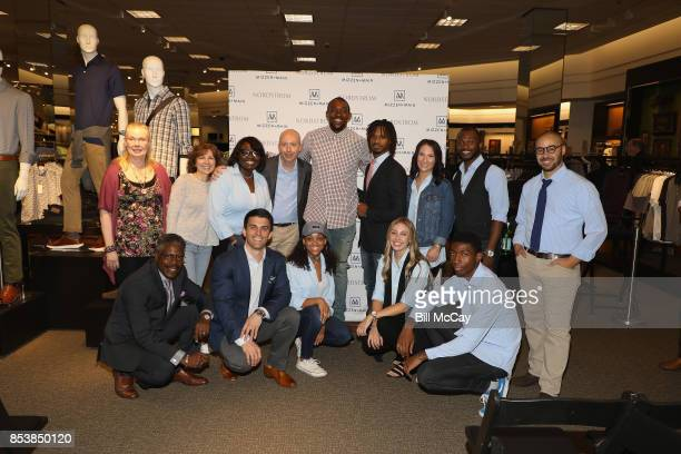 Alshon Jeffery and Kevin Lavelle CEO and Founder of Mizzen and Main along with the Nordstrom team attend the Alshon Jeffery Personal Appearance for...