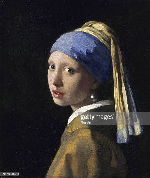 Also known as Girl in a Turban Circa 1665 Located in Mauritshuis The Hague Netherlands