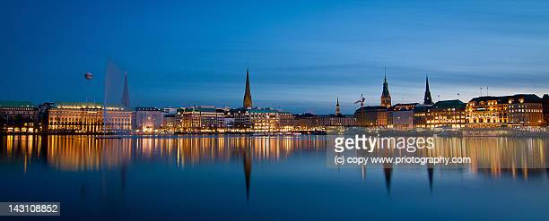 Alster Hamburg at night
