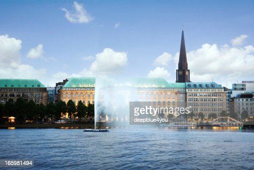 Alster Lake and Downtown Hamburg, Germany - Alster Lake Hamburg