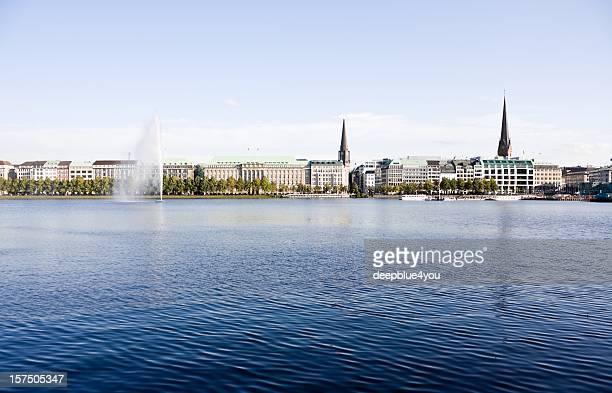 Alstersee in Hamburg, Deutschland