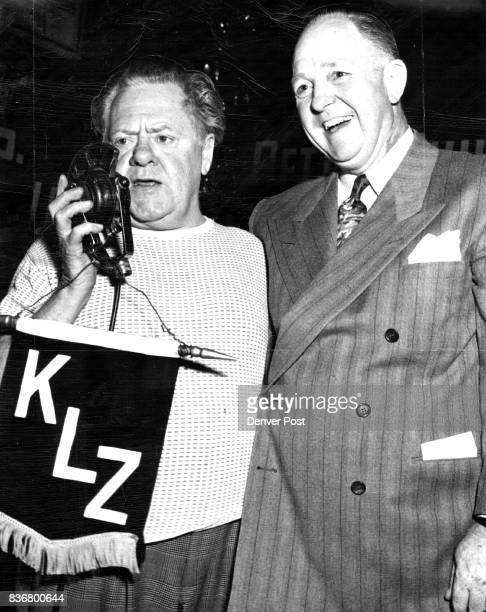 Alt Joe Yule star of 'Finian's Rainbow' and father of Screen Actor Mickey Rooney is shown as he appeared on a broadcast from The Denver Post Home...