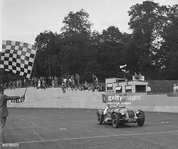 Alta of GE Abecassis winning the Imperial Trophy Formula Libre race at Crystal Palace London 1939 Artist Bill BrunellAlta 1960S cc Reg No EOY8 Entry...