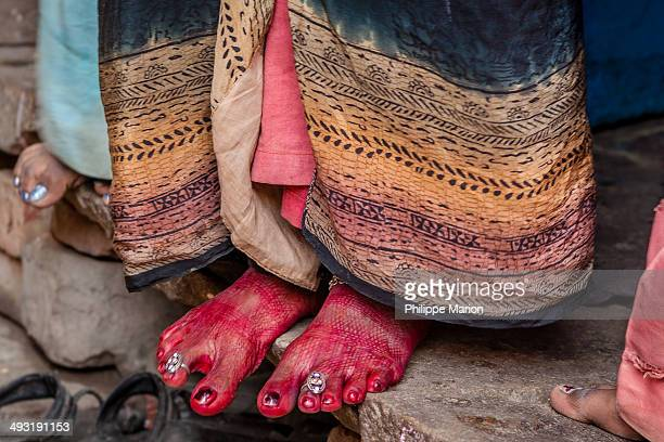 CONTENT] Alta or Mahawar or Rose Bengal is a red dye which women in India or Bangladesh apply with cotton on their feet during marriages and...