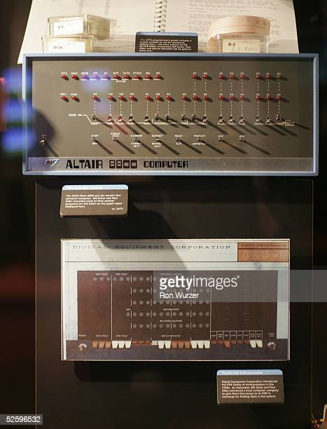 Altair 8800 computer the world's first personal computer lies on display at the Microsoft Visitor Center April 6 2005 in Redmond Washington The...