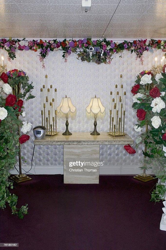 Altar at a wedding chapel, Las Vegas, Nevada