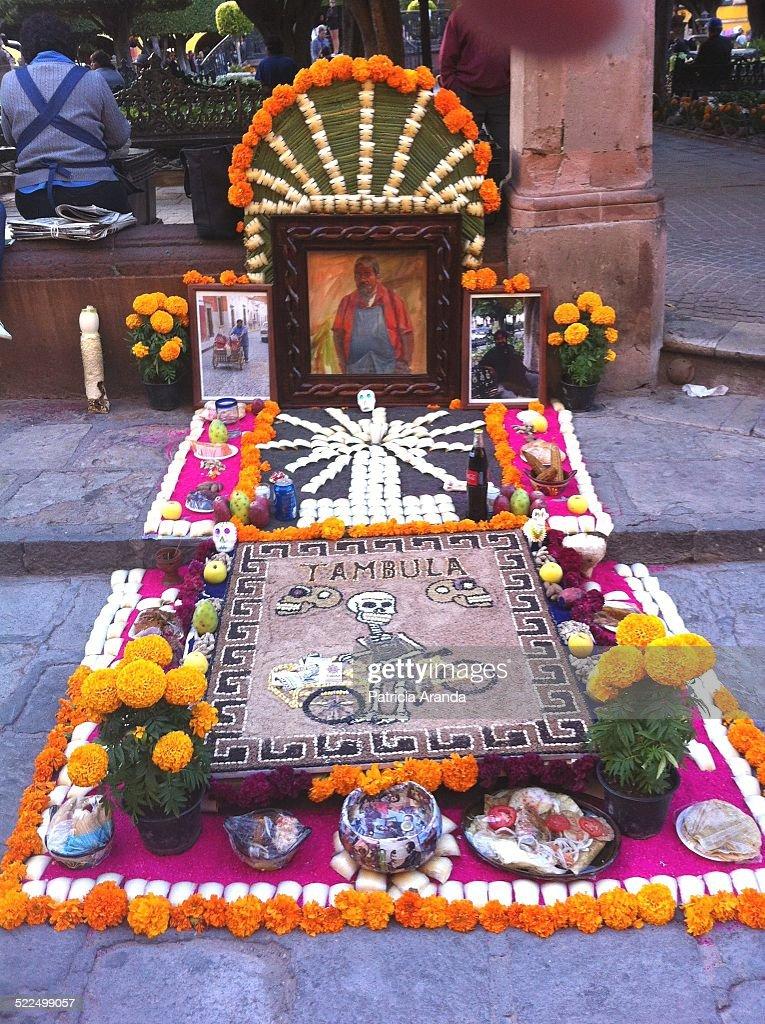 Altar de muertos taken at downtown San Miguel de Allende Gto México In the festivity of the Day of the death