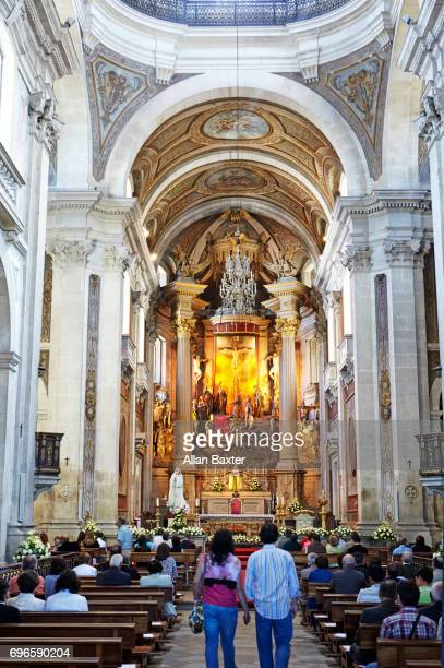 Altar of the baroque 'Bom Jesus do Monte' in Braga