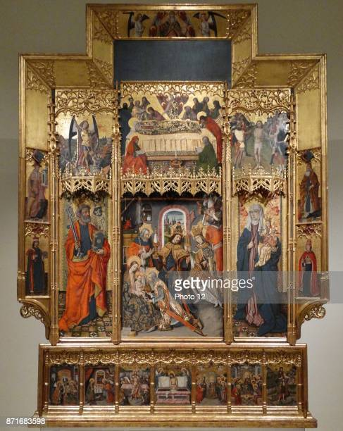 Altarpiece of the Epiphany by Joan Reixach Spanish painter and miniaturist Dated 15th Century