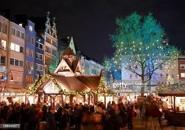 Alter Market Christmas Market at night