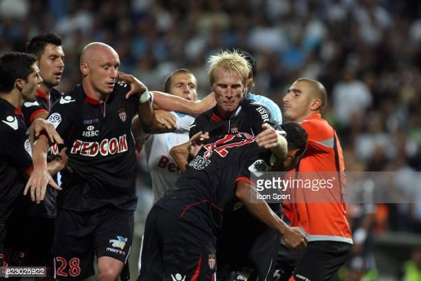 Altercation en fin de match Marseille / Monaco 5eme journee de Ligue 1