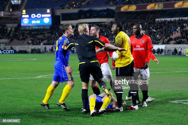 Altercation MArko SIMIC / Apoula EDEL PSG / BATE Borisov 1/16 de finale retour de Ligue Europa