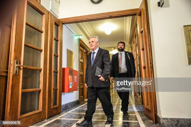Alternate Prime Minister Giannis Dragasakis attends Extraordinary cabinet meeting chaired by Prime Minister Alexis Tsipras in Athens on 13 June 2017