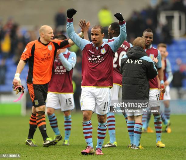 *Alternative Crop* Aston Villa's Gabriel Agbonlahor celebrates victory after the final whistle