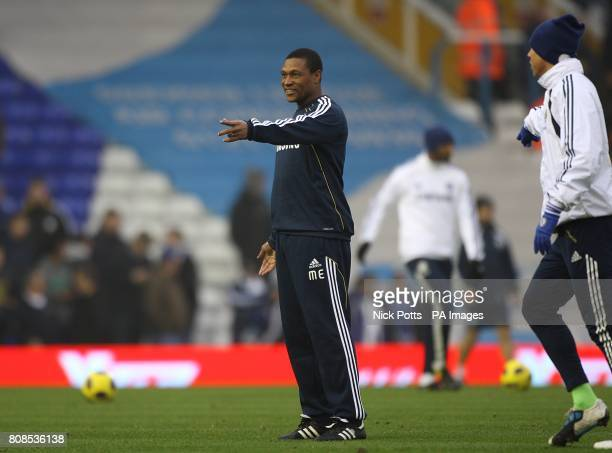 **Alternative Crop** Chelsea's new assistant first team coach Michael Emenalo gestures during the prematch warm up