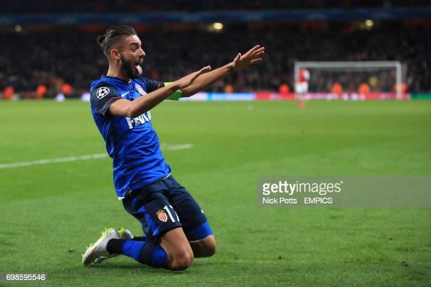 *alternative crop* Monaco's Yannick Ferreira Carrasco celebrates scoring his sides third goal of the game