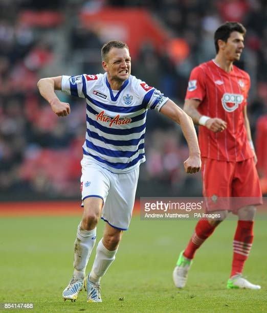 *Alternative Crop* Queens Park Rangers' Clint Hill celebrates victory after the final whistle