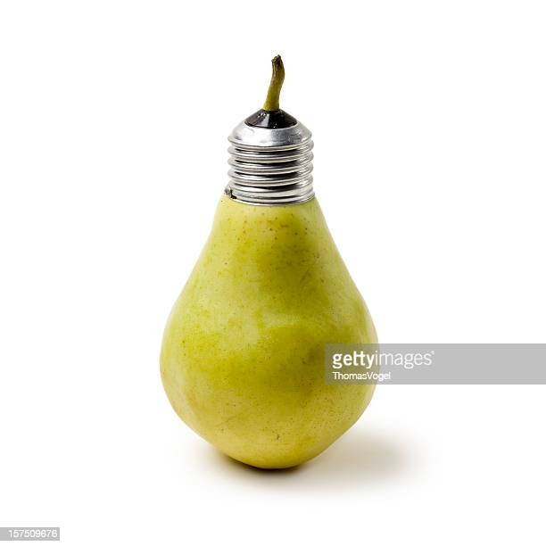 Alternative energy. Light bulb pear