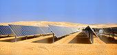 solar batteries in the desert