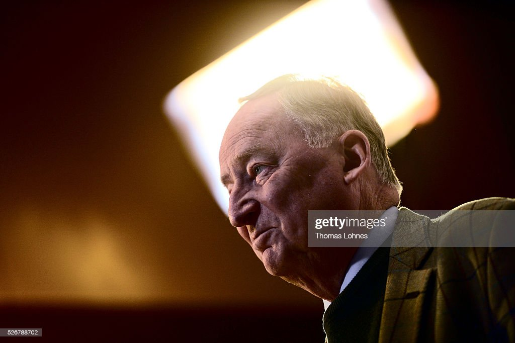 Alternative fuer Deutschland (AfD) deputy chairman Alexander Gauland pictured at he party's federal congress on May 01, 2016 in Stuttgart, Germany. The AfD, a relative newcomer to the German political landscape, has emerged from Euro-sceptic conservatism towards a more right-wing leaning appeal based in large part on opposition to Germany's generous refugees and migrants policy. Since winning seats in March elections in three German state parliaments the party has sharpened its tone, calling for a ban on minarets and claiming that Islam does not belong in Germany.
