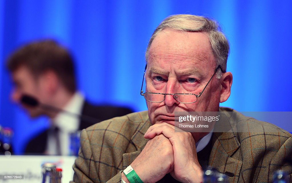 Alternative fuer Deutschland (AfD) deputy chairman Alexander Gauland pictured at the party's federal congress on April 30, 2016 in Stuttgart, Germany. The AfD, a relative newcomer to the German political landscape, has emerged from Euro-sceptic conservatism towards a more right-wing leaning appeal based in large part on opposition to Germany's generous refugees and migrants policy. Since winning seats in March elections in three German state parliaments the party has sharpened its tone, calling for a ban on minarets and claiming that Islam does not belong in Germany.