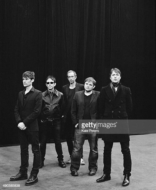 Alternative rock band Suede are photographed for the Independent on April 8 2013 in London England