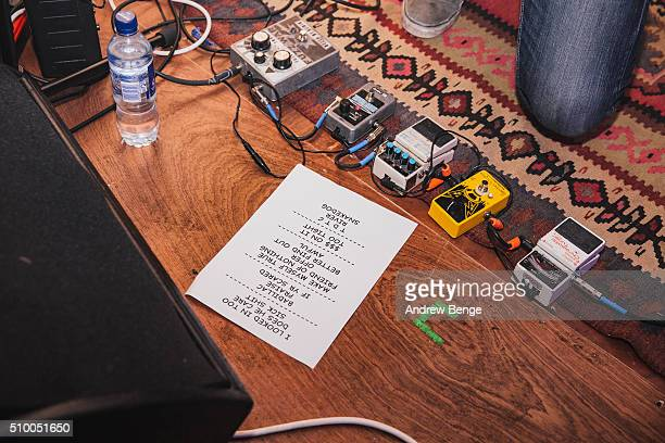 Alternative view of the set list for Together Pangea at Headrow House on February 10 2016 in Leeds England