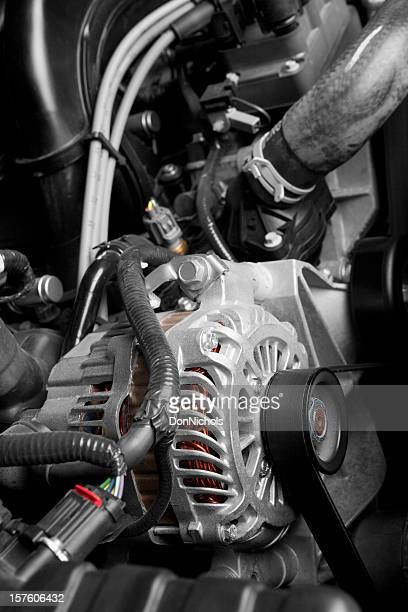 Alternator on a Car Engine