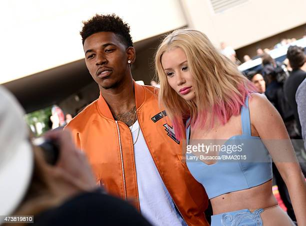 Althete Nick Young and recording artist Iggy Azalea attend the 2015 Billboard Music Awards at MGM Grand Garden Arena on May 17 2015 in Las Vegas...