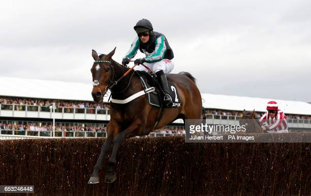 Altior ridden by Nico de Boinville clears the last fence before going on to win The Racing Post Arkle Challenge Trophy Novices' Steeple Chase Race...