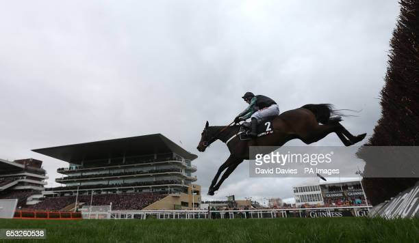 Altior ridden by Nico de Boinville wins the Racing Post Arkle Novices' Chase during Champion Day of the 2017 Cheltenham Festival at Cheltenham...
