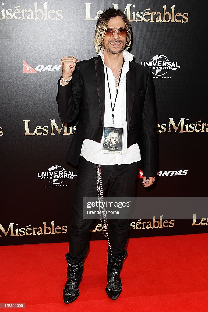 Altiyan Childs walks the red carpet during the Australian premiere of 'Les Miserables' at the State Theatre on December 21, 2012 in Sydney, Australia.