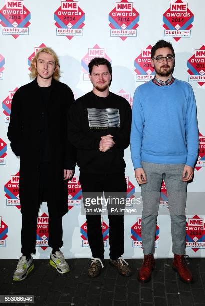 AltJ arriving for the 2014 NME Awards at Brixton Academy London