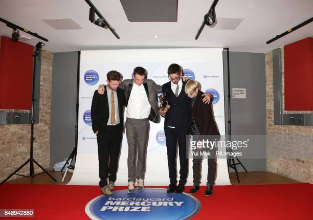 AltJ Joe Newman Thom Green Gus UngerHamilton and Gwil Sainsbury are announced as winners of the Mercury Prize at the Roundhouse in Camden north London