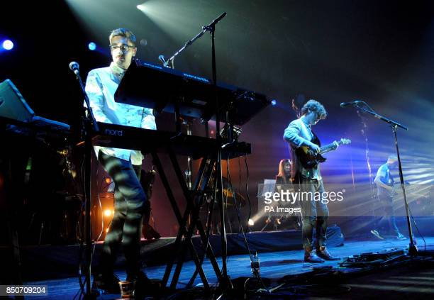 AltJ performing live at the Brixton Academy in London
