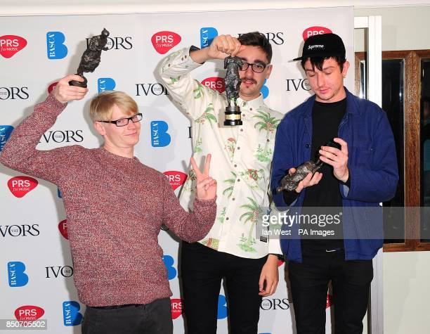 AltJ with the Album award received for An Awesome Wave at the 2013 Ivor Novello awards held at the Grosvenor House Hotel London