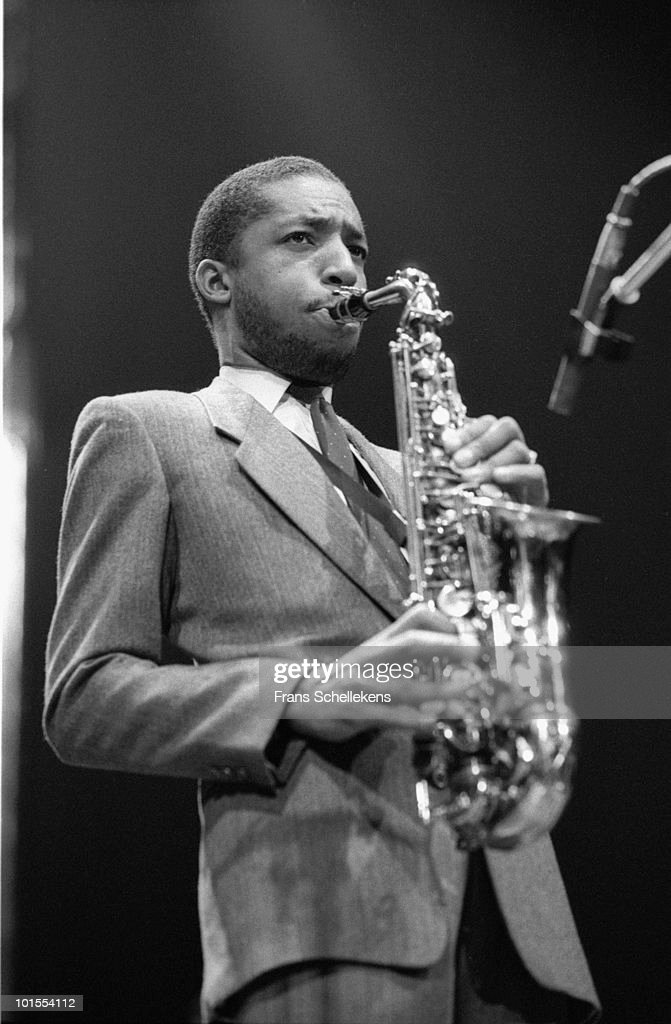 Alto Sax player Donald Harrison performs live on stage at Meervaart in Amsterdam, Netherlands on September 27 1985