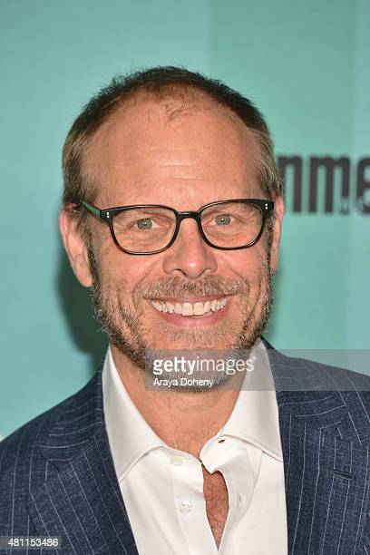 Alton Brown arrives at the Entertainment Weekly celebration at Float at Hard Rock Hotel San Diego on July 11 2015 in San Diego California