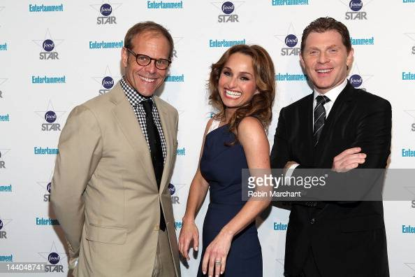 Alton Brown Giada De Laurentiis and Bobby Flay attend Entertainment Weekly's 'A Night With The Stars Of Food Network' Event at Crosby Street Hotel on...