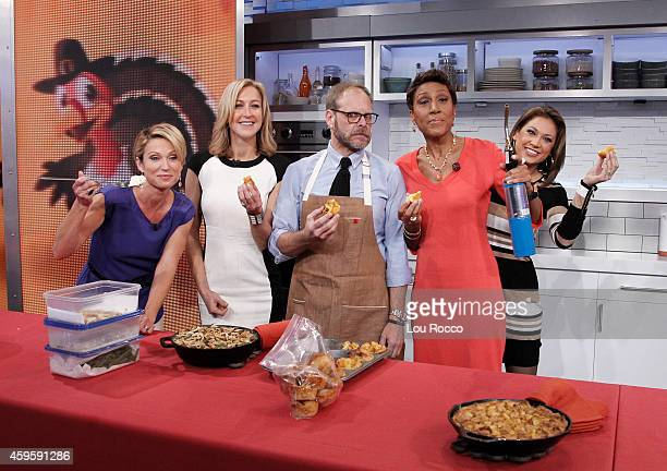 AMERICA Alton Brown prepares for Thanksgiving on 'Good Morning America' 11/25/14 airing on the ABC Television Network