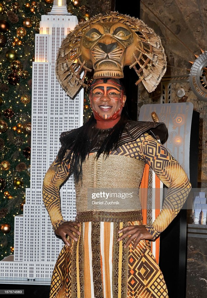 Alton Fitzgerald White attends the lighting ceremony honoring the 15th anniversary of Broadway's 'The Lion King' at the Empire State Building on December 4, 2012 in New York City.