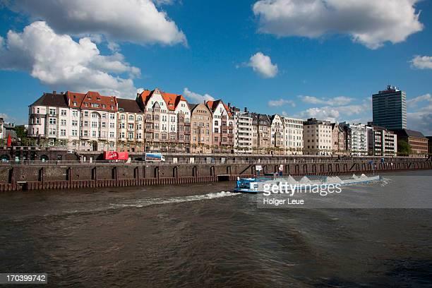 Altstadt old town seen from Rhine river