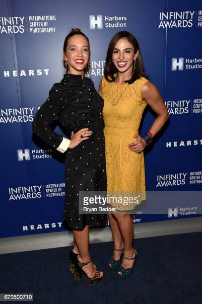 Alum Zoe Buckman and Shari Loeffler attend The International Center of Photography's 33rd Annual Infinity Awards at Pier 60 on April 24 2017 in New...
