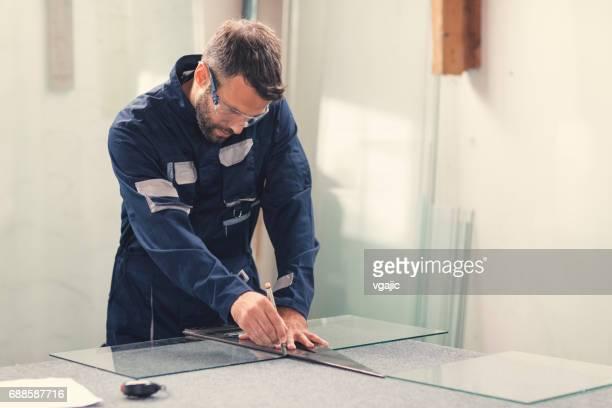 Aluminium and PVC industry worker