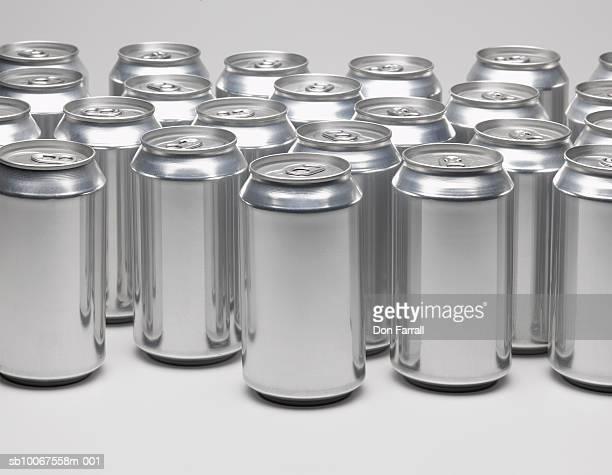Aluminium cans, studio shot
