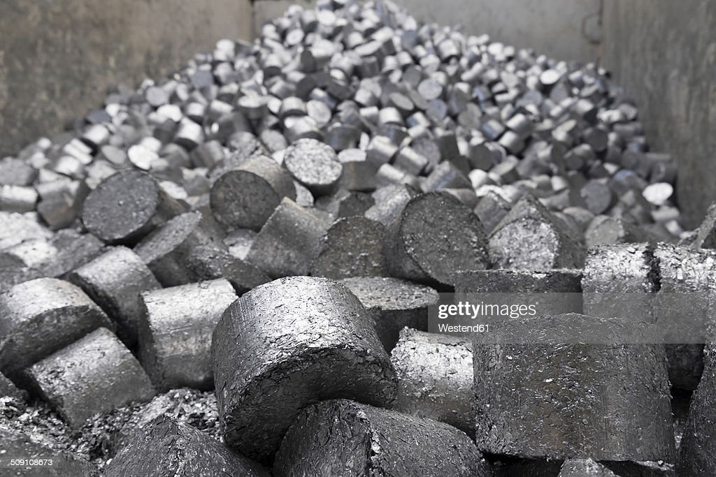 Aluminium in a scrap metal recycling plant
