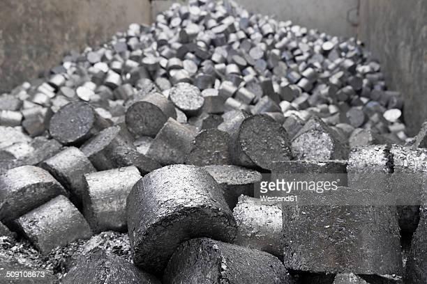 Aluminium in a scrap metal recycling plant