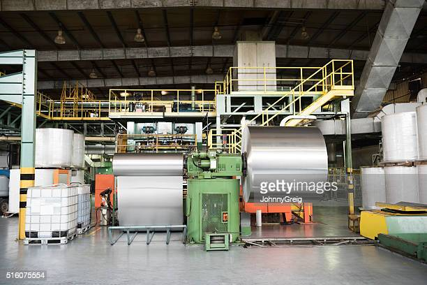 Aluminium metal rolled up in processing plant