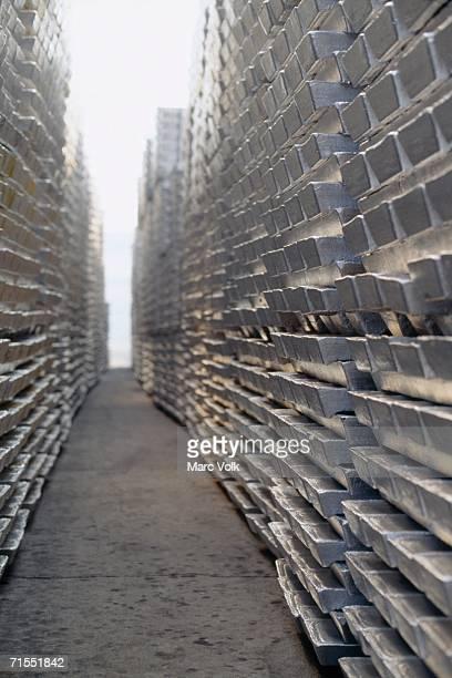 Aluminum bullion, Puerto Ordaz, Venezuela