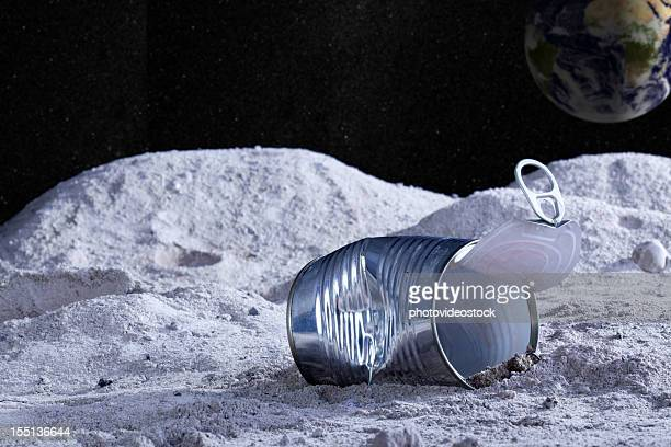 Aluminum can on the moon